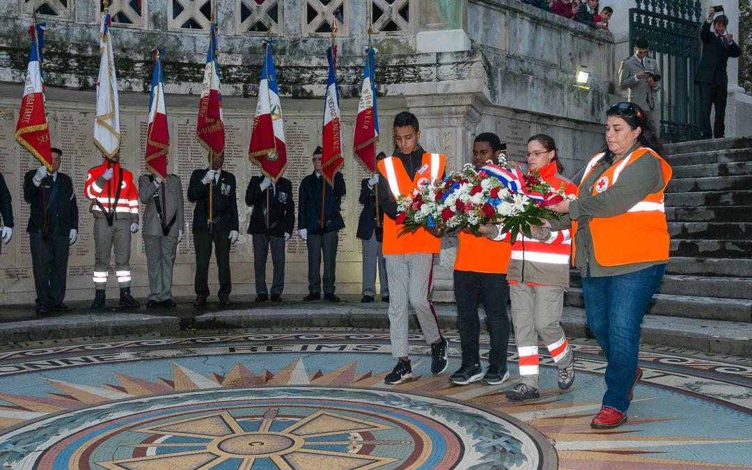 Le 11 novembre avec les lycéens de l'option Croix-Rouge
