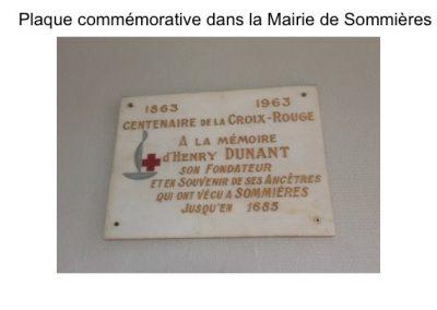Plaque Commémorative dans la Mairie de sommières