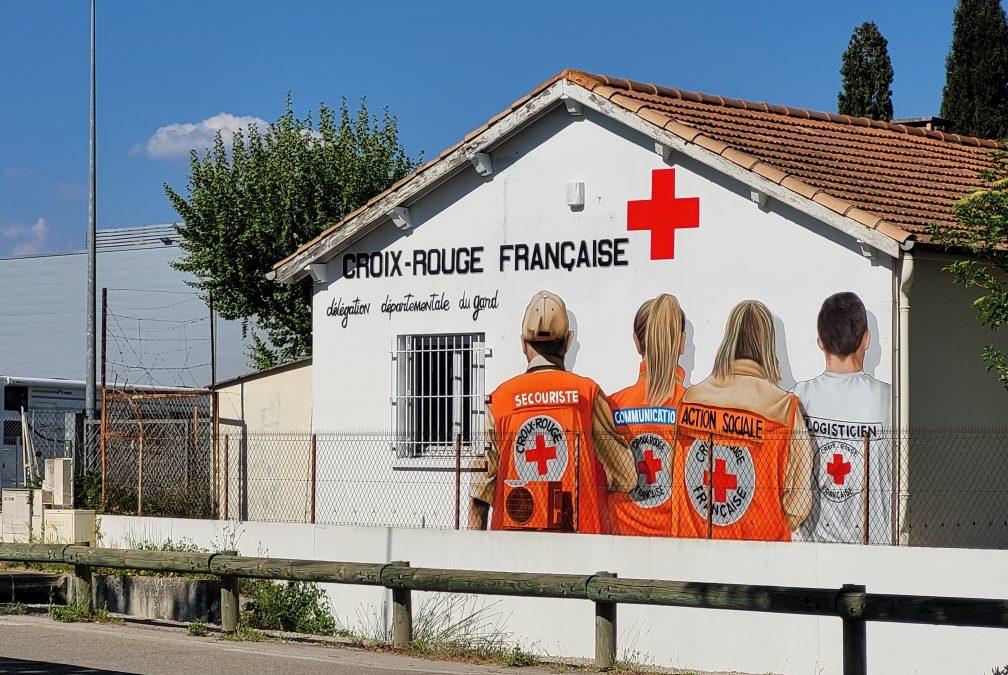 StreetArt sur l'un des murs de la délégation territoriale